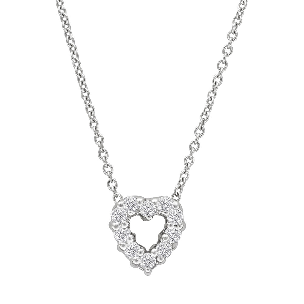 "Diamond ""Tiny Treasures"" Heart Pendant"