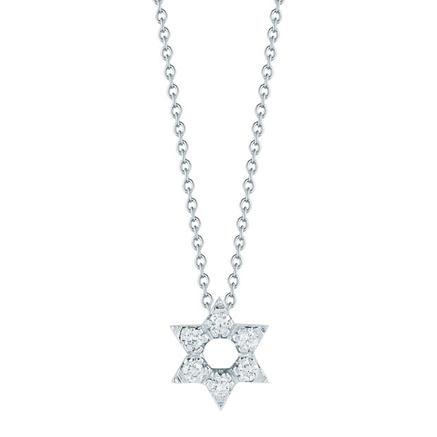 "Diamond ""Tiny Treasures"" Star of David Pendant"