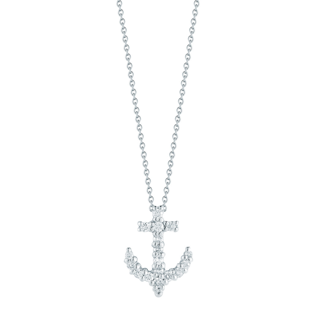 "Diamond ""Tiny Treasures"" Anchor Pendant"