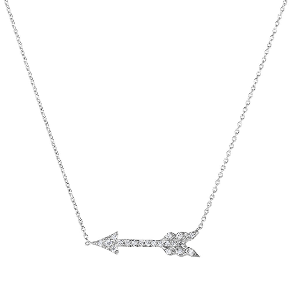 "Diamond ""Tiny Treasures"" Arrow Pendant"