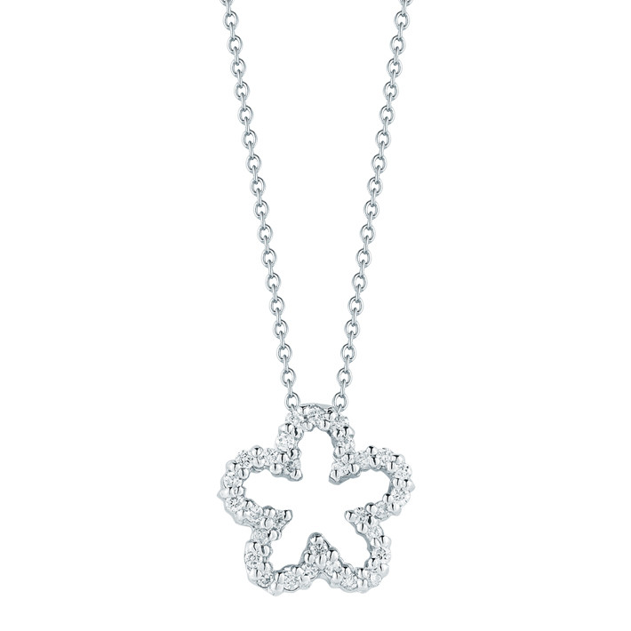 "Diamond ""Tiny Treasures"" Flower Pendant"