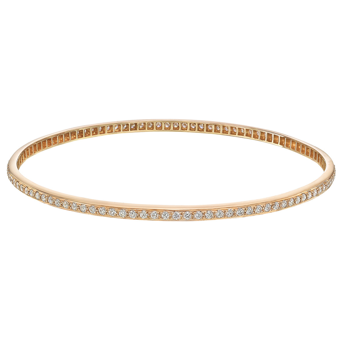 18k Rose Gold & Diamond Bangle (~2 ct tw)