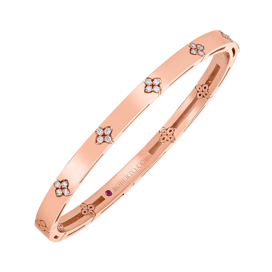 "18k Rose Gold & Diamond ""Love in Verona"" Bangle Bracelet"