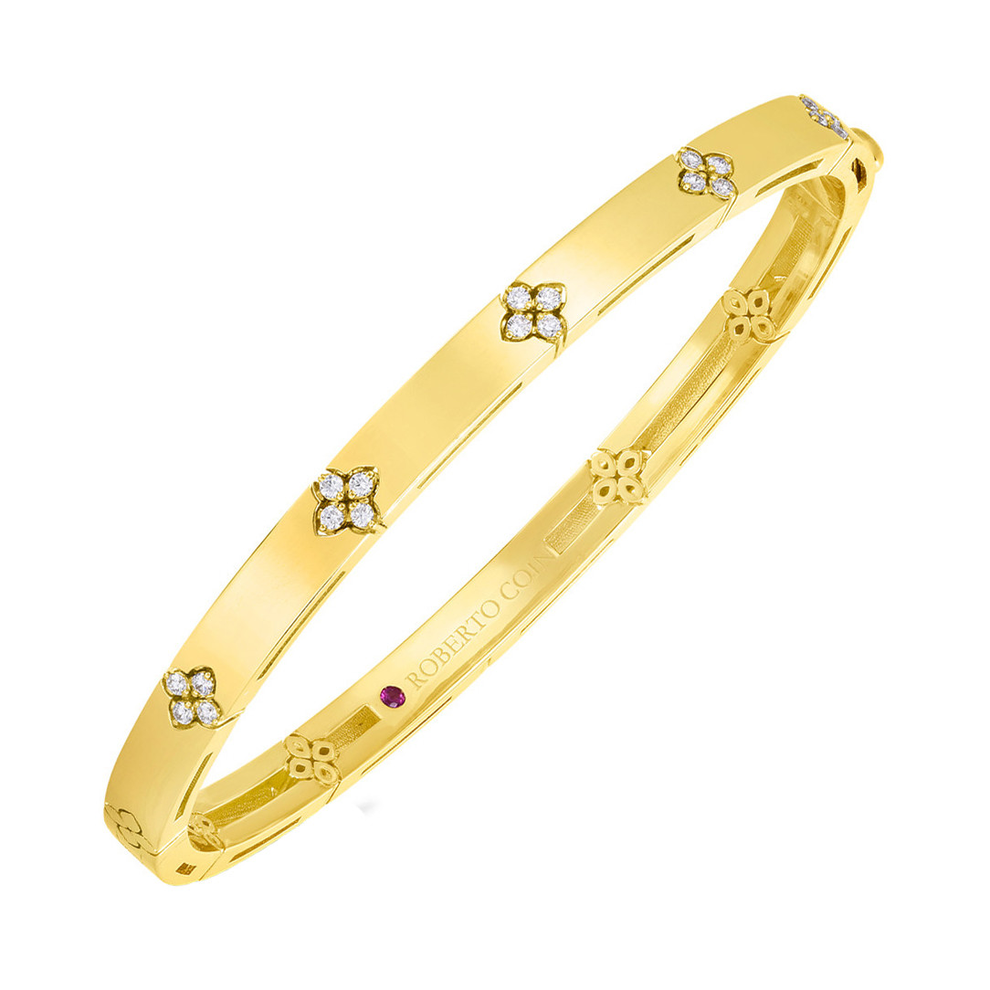 "18k Yellow Gold & Diamond ""Love in Verona"" Bangle Bracelet"