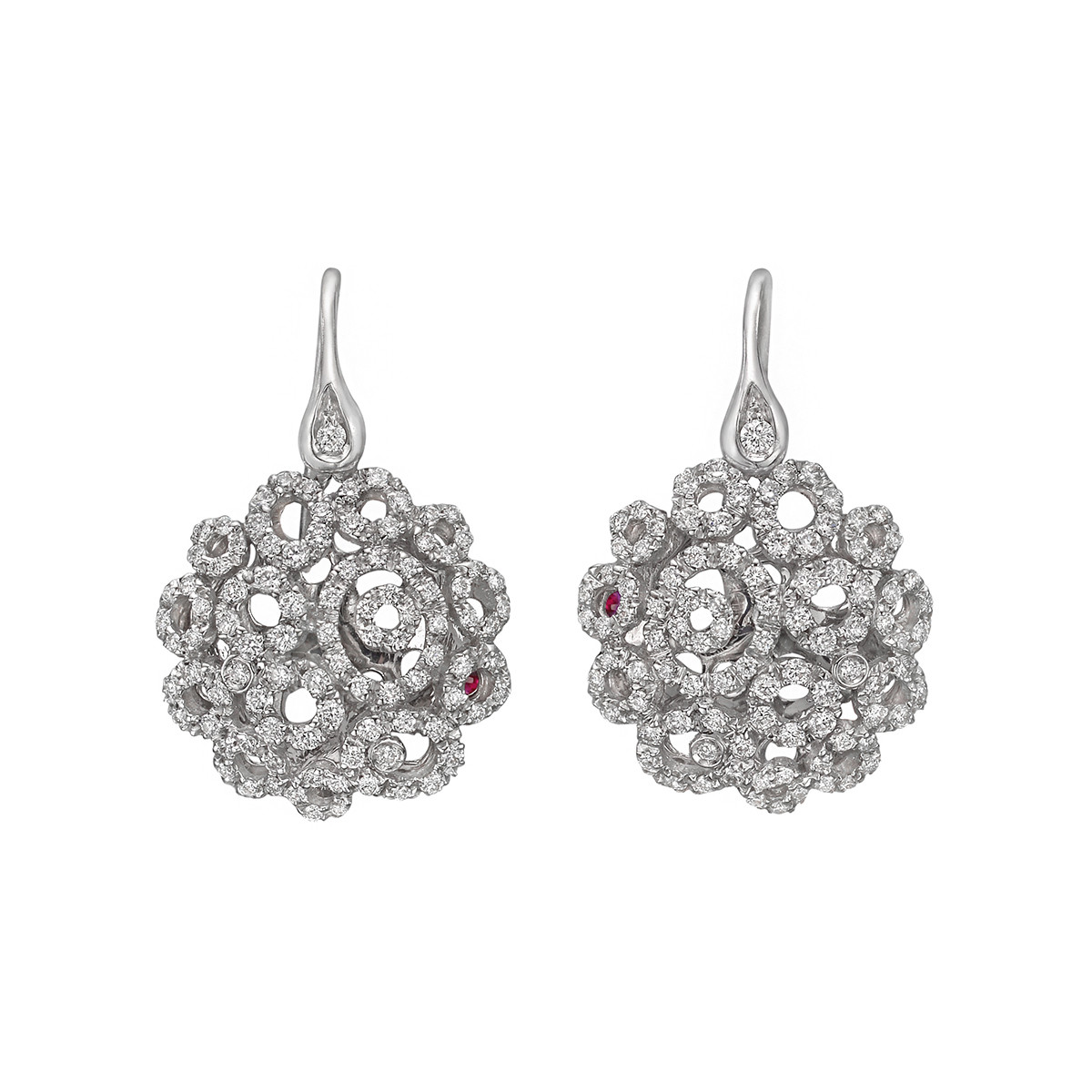 "Diamond ""Mauresque"" Drop Earrings"