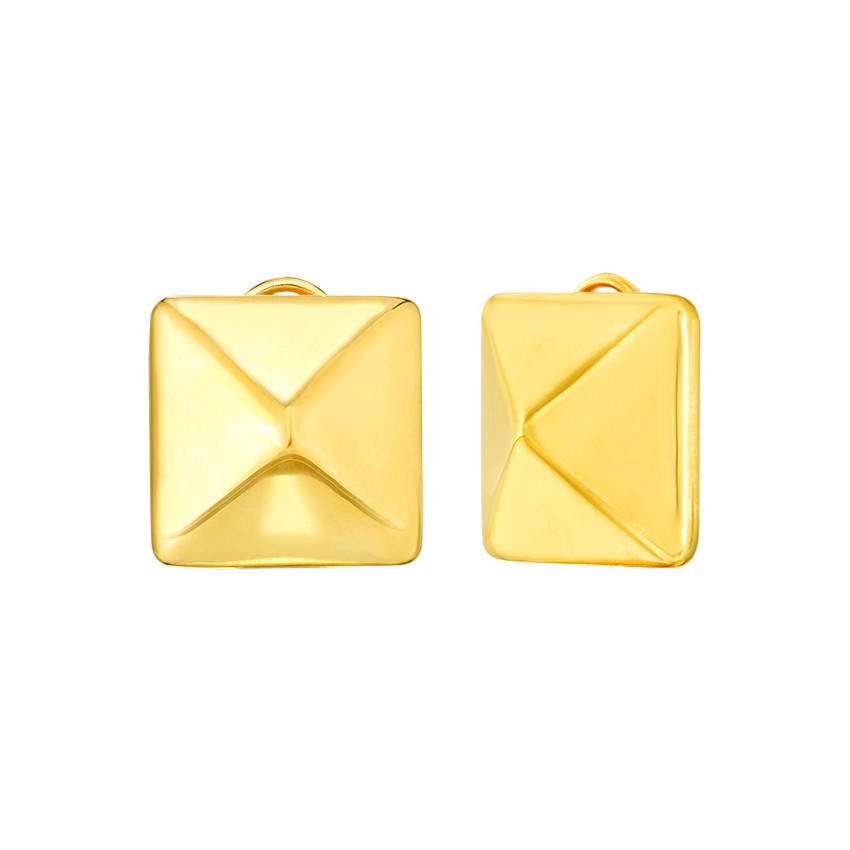 "18k Gold ""Oro Classic"" Pyramid Earrings"
