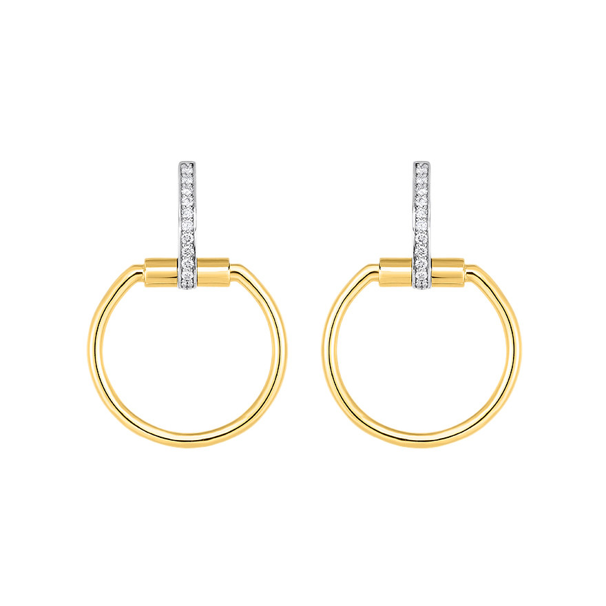 "18k Yellow Gold & Diamond ""Parisienne"" Drop Earrings"