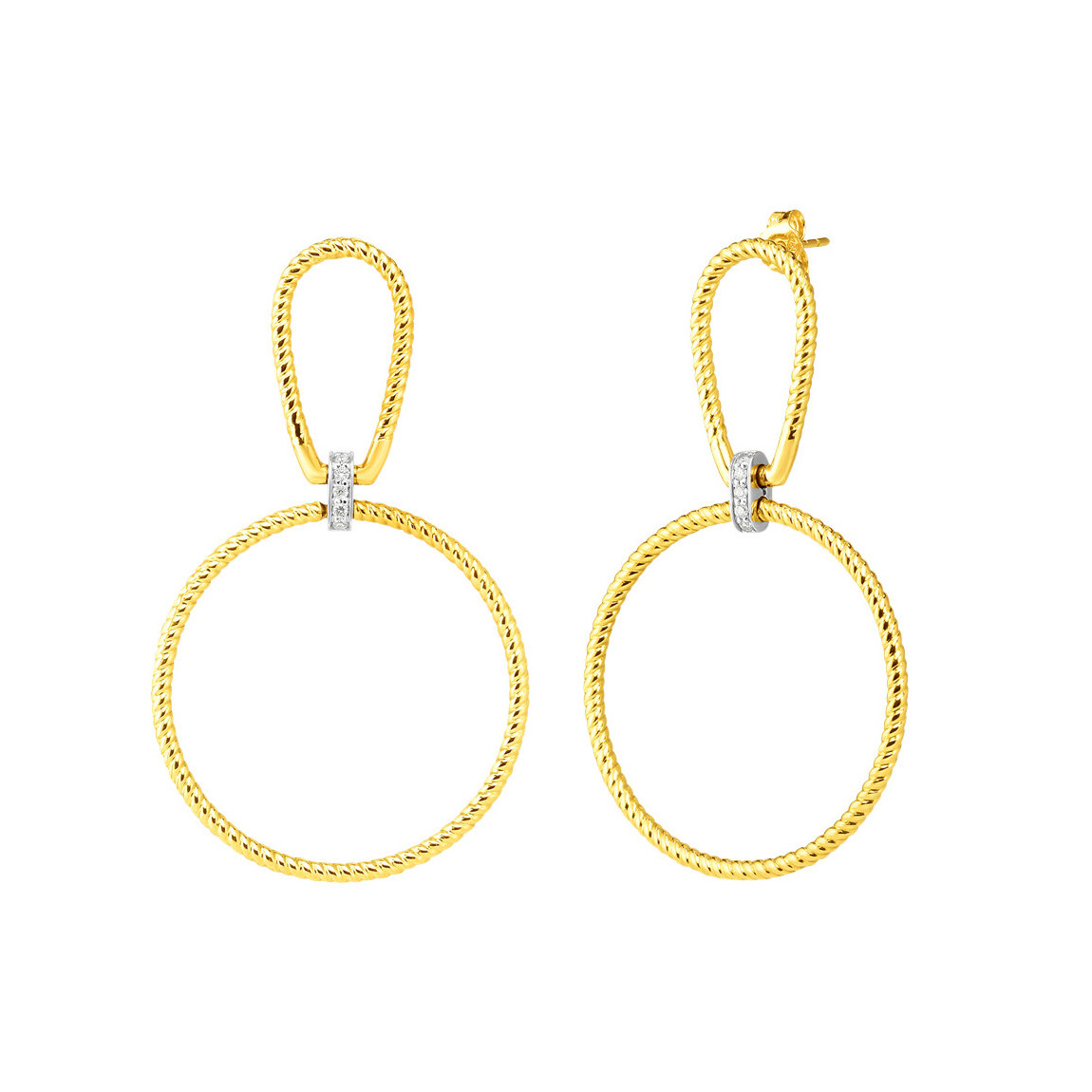 "18k Gold & Diamond ""Parisienne"" Drop Earrings"
