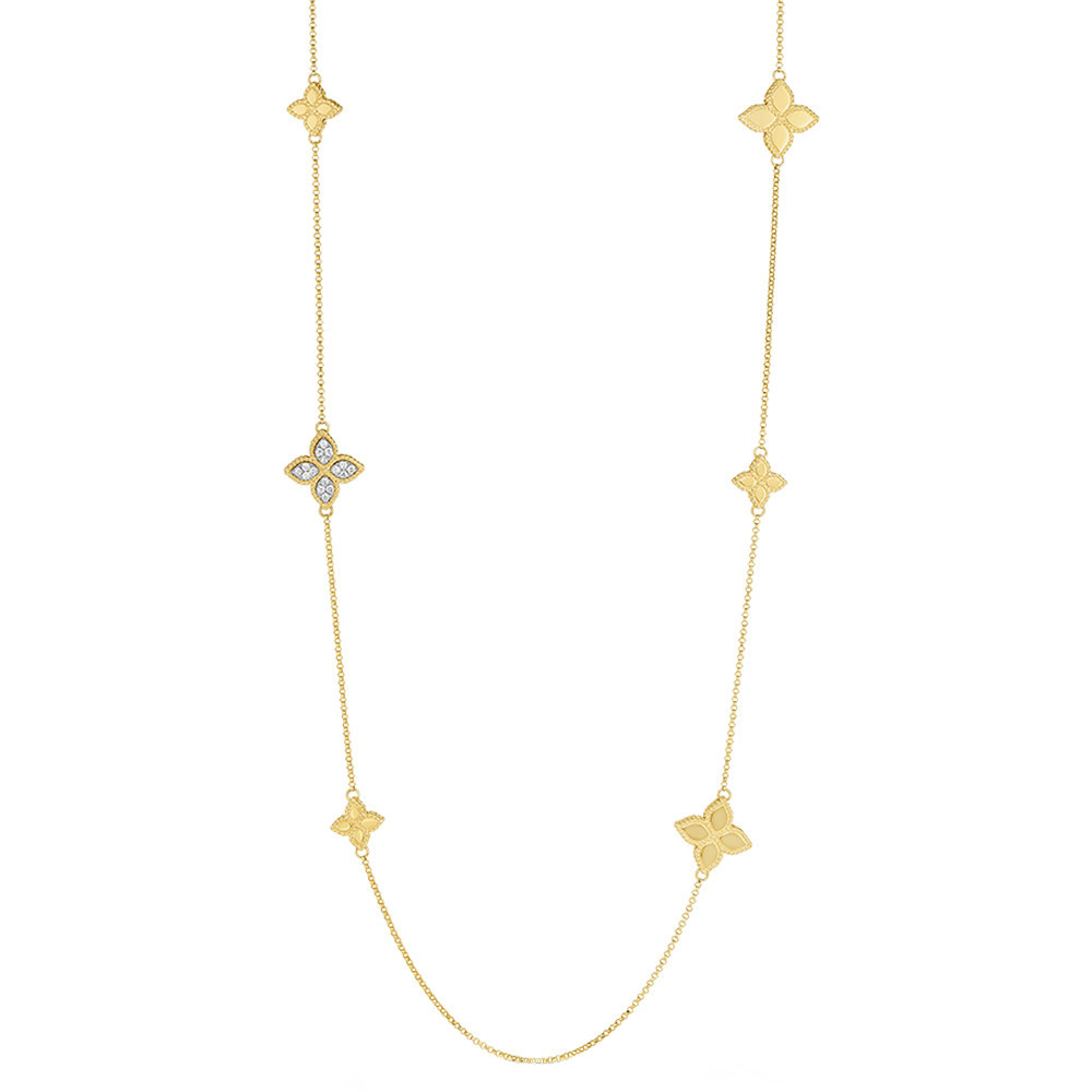 "18k Gold & Diamond ""Princess Flower"" Necklace"