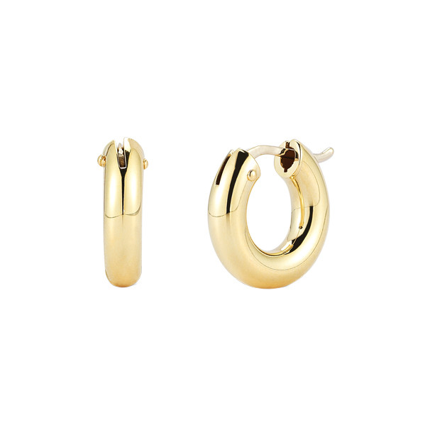 Small 18k Yellow Gold Round Hoop Earrings