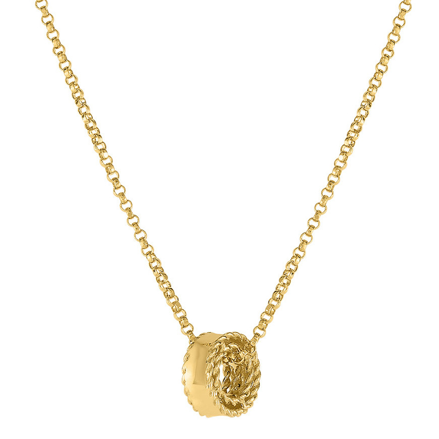 "18k Yellow Gold ""Symphony Princess"" Rondel Pendant"
