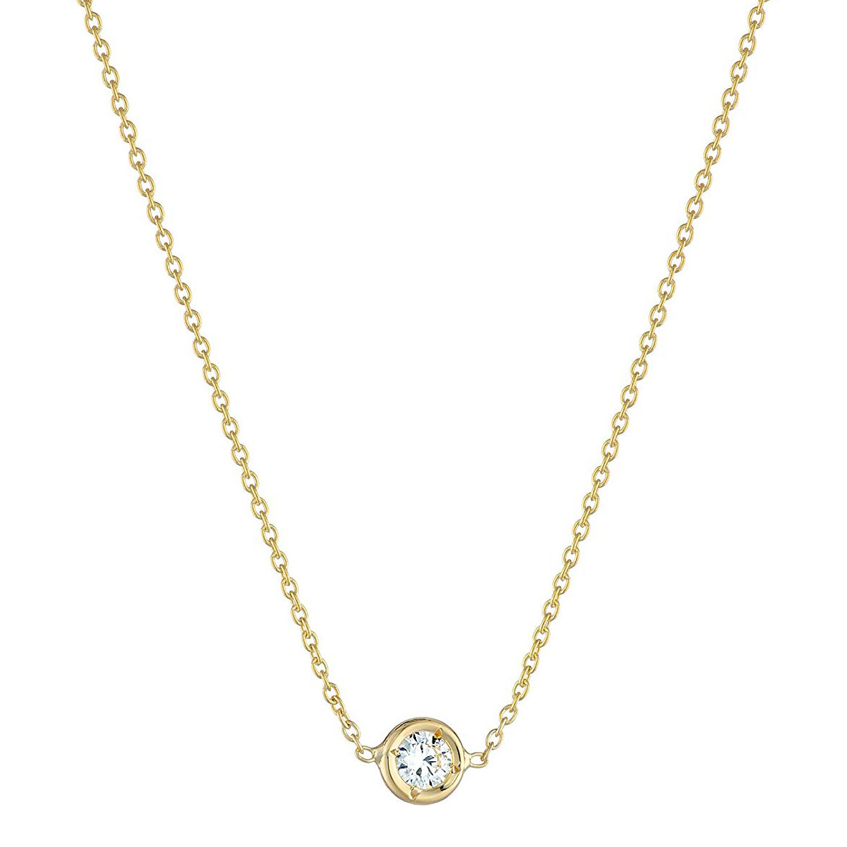 18k Yellow Gold 0.10ct Diamond Solitaire Pendant