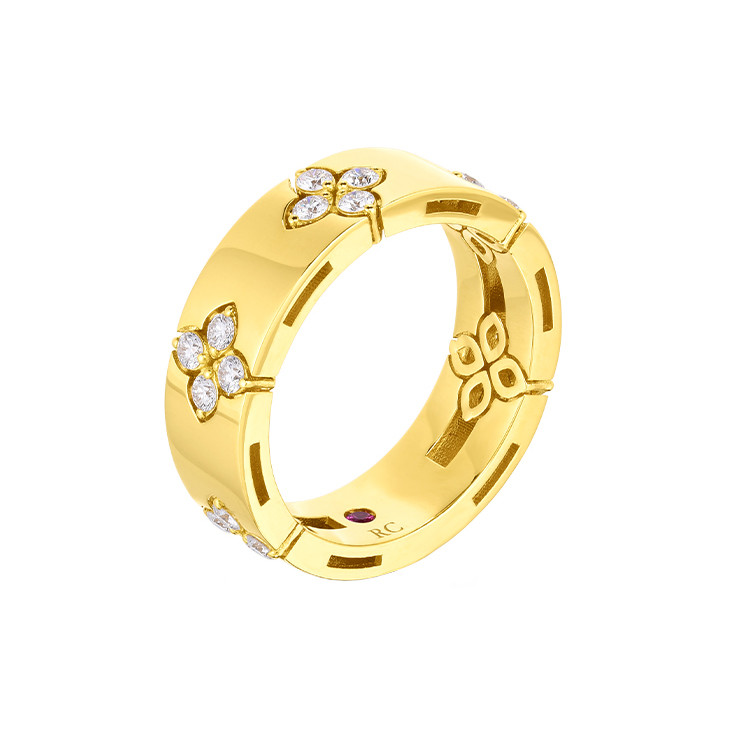 18k Yellow Gold & Diamond Verona Band Ring