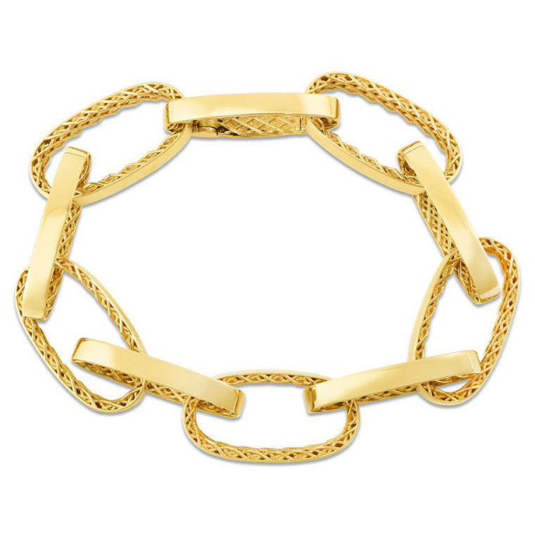 "18k Yellow Gold ""Golden Gate"" Link Bracelet"