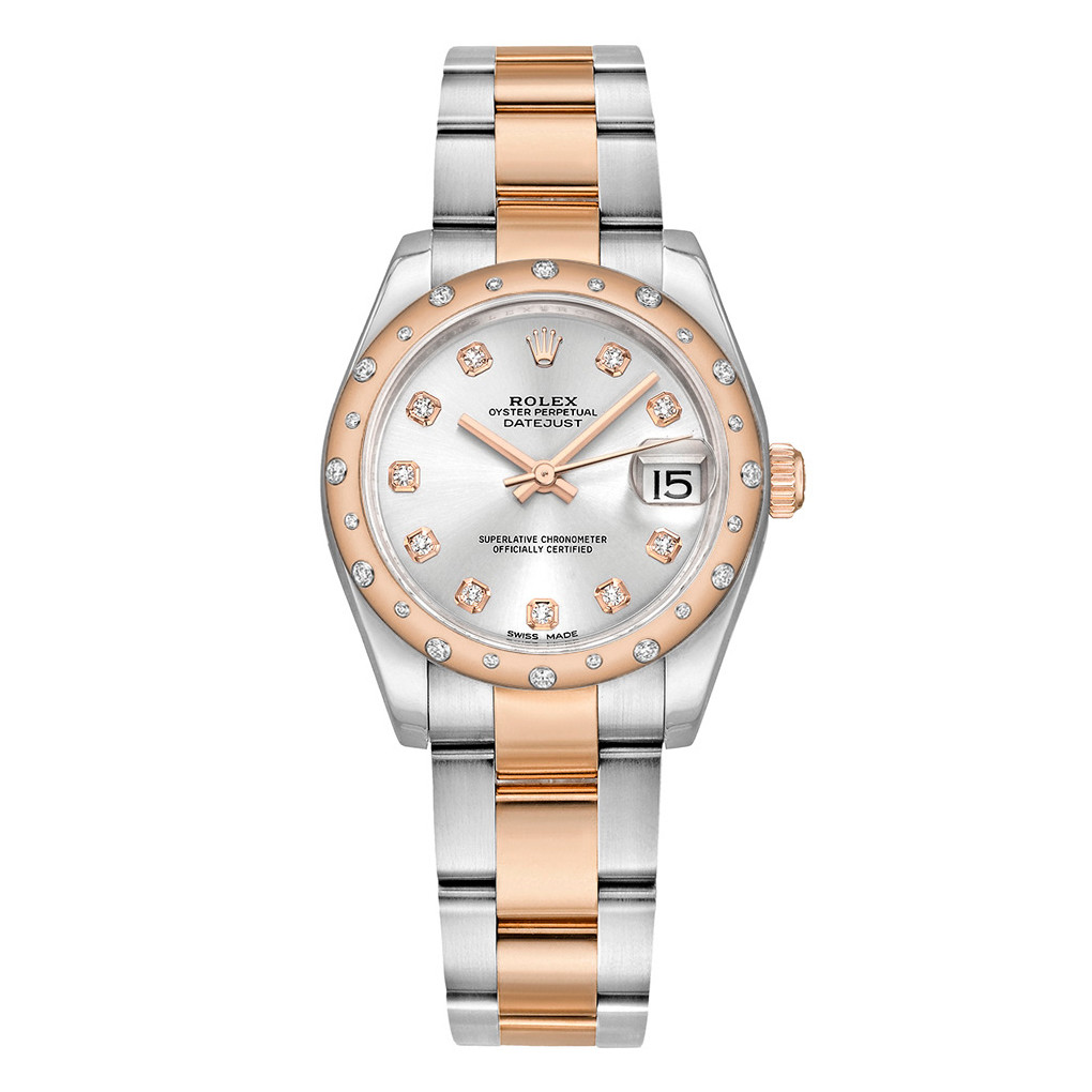 Datejust 31 Everose Rolesor & Diamond (178341-0033)