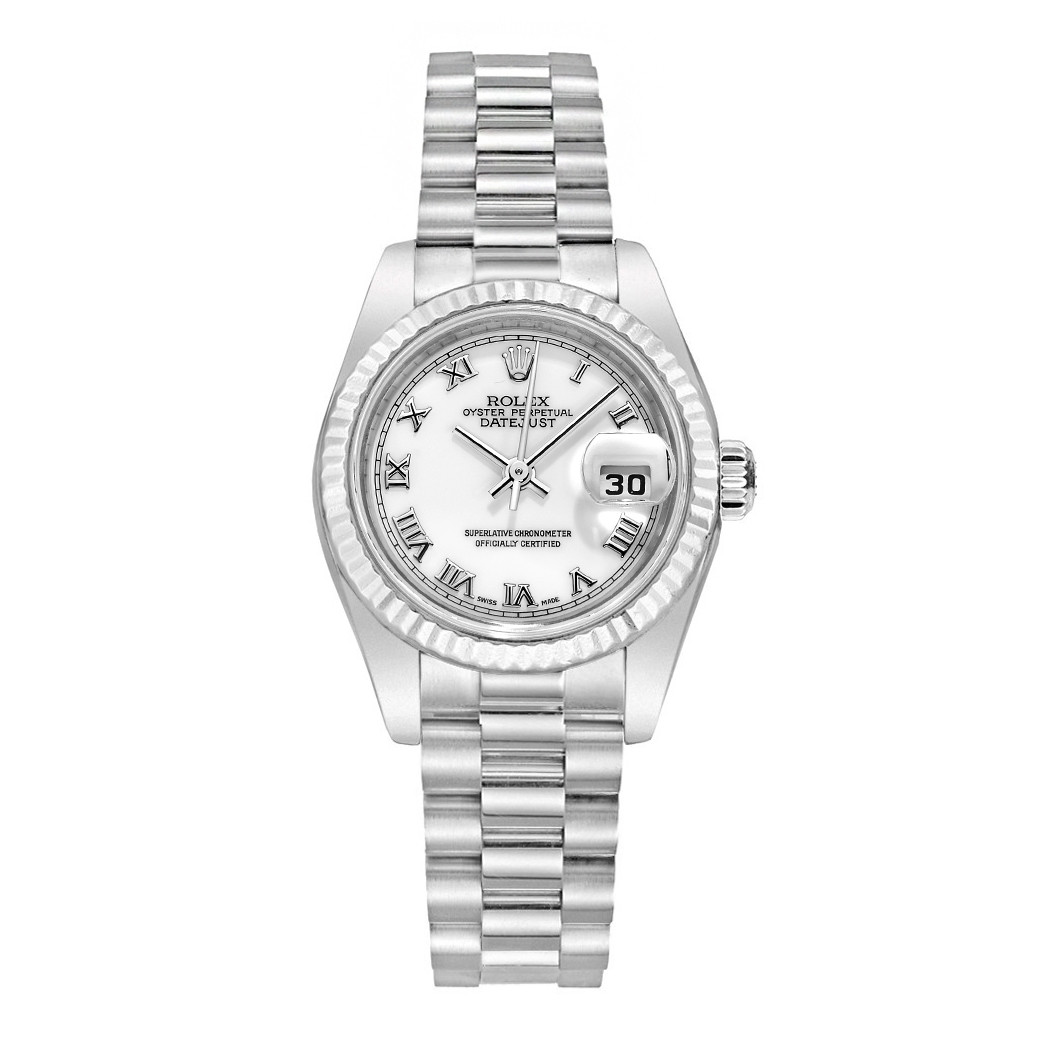 Lady-Datejust 26 White Gold (179179)