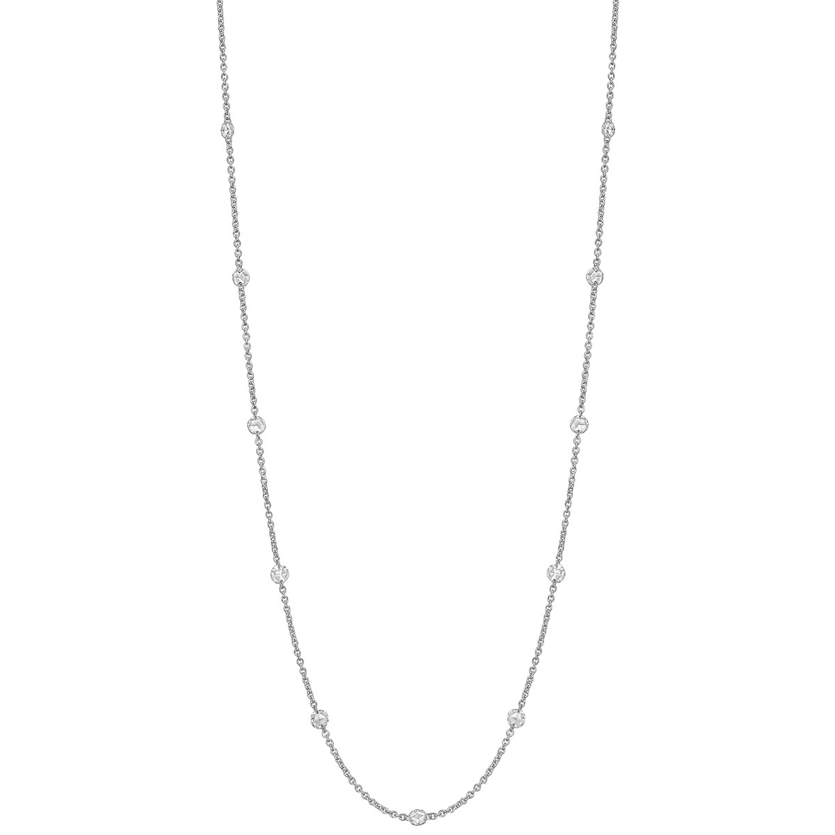 Rose-Cut Diamond Chain Necklace (0.97 ct tw)