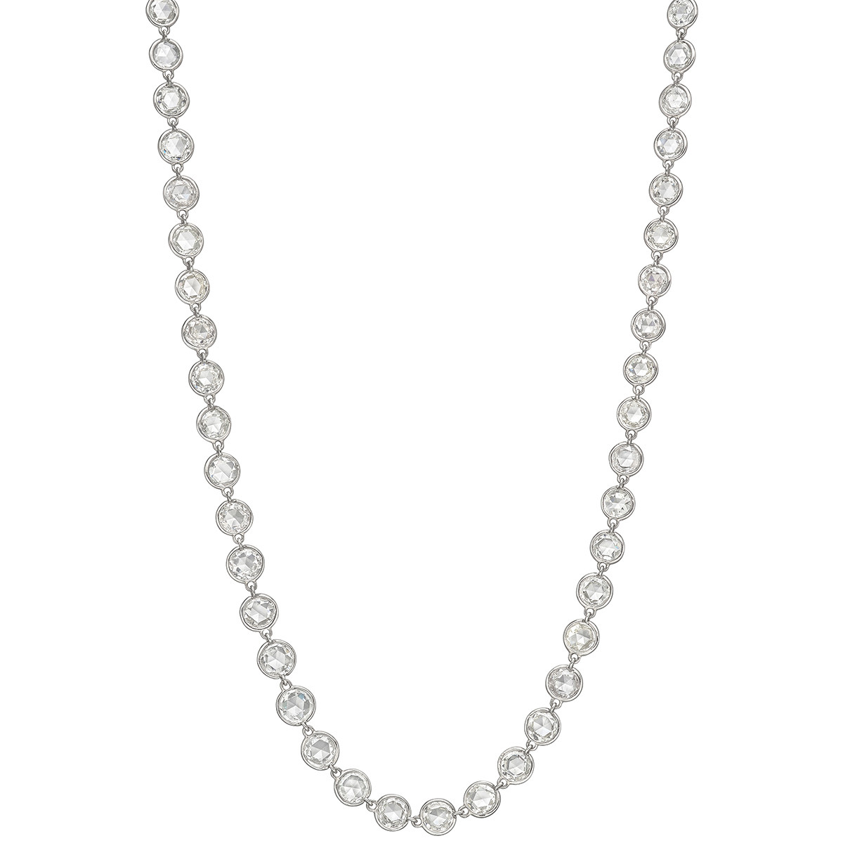 Rose-Cut Diamond Chain Necklace (16.29 ct tw)