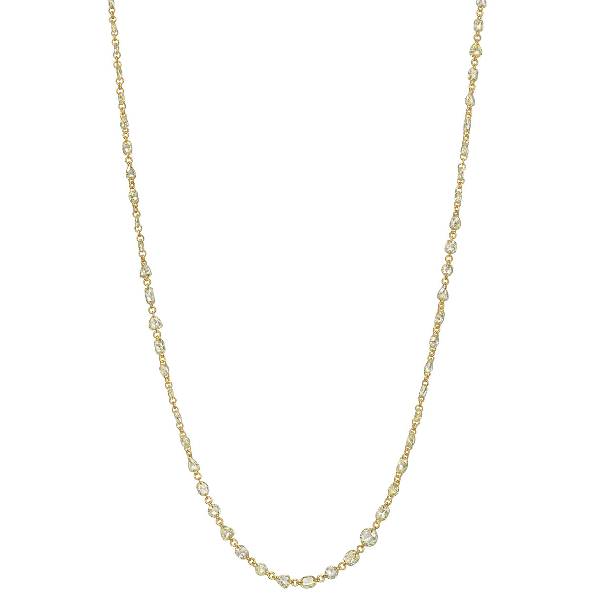 Rose-Cut Yellow Diamond Chain Necklace (6.42ct tw)