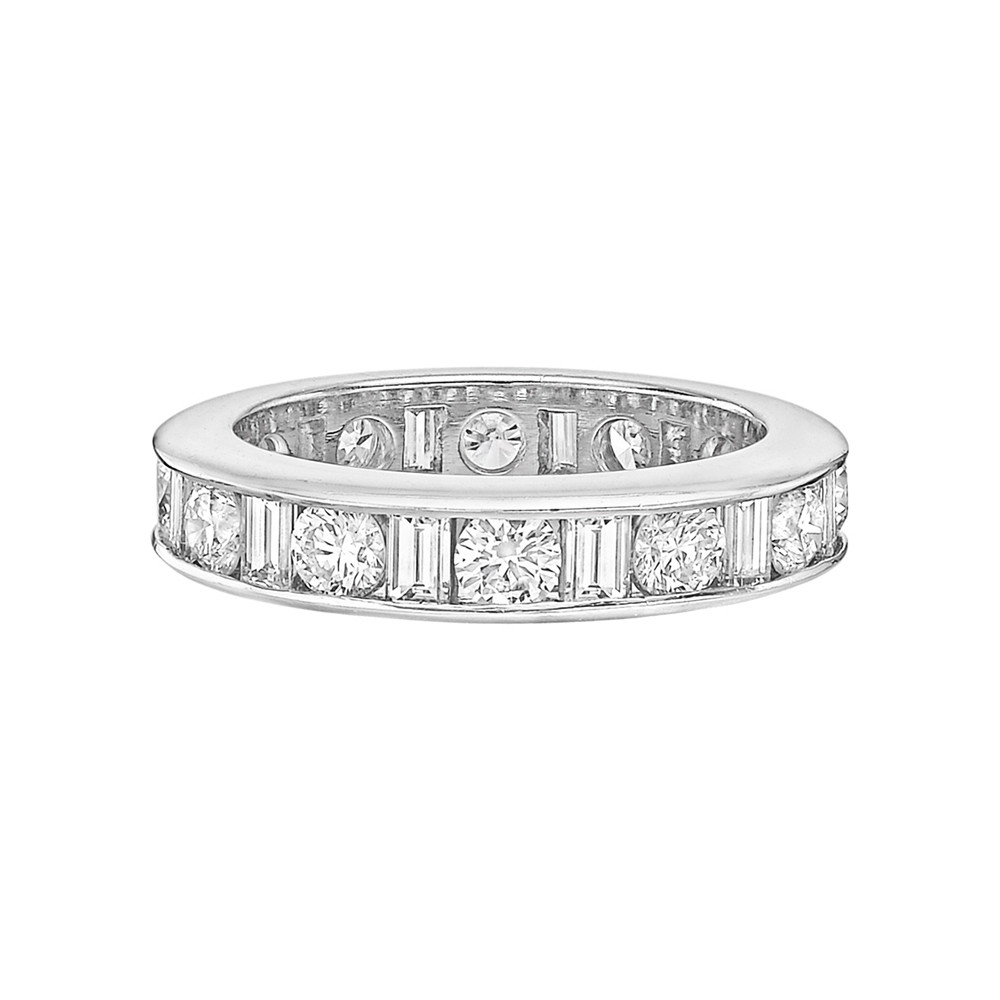 Round & Baguette Diamond Eternity Band (2.77 ct tw)