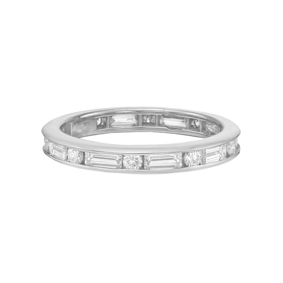 Baguette & Round Diamond Eternity Band (1.75ct tw)
