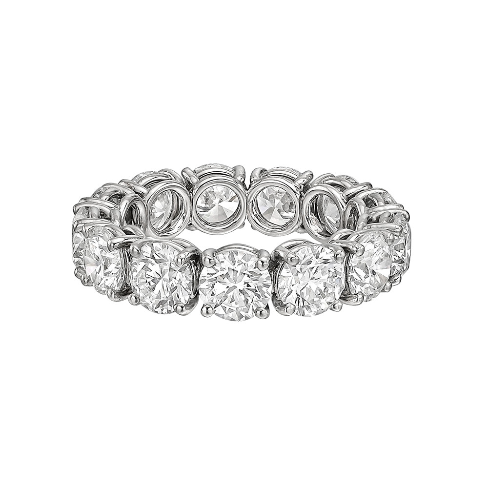 round diamond set ring eternity en half wedding alliance with in rings gold diamonds white band carat bands
