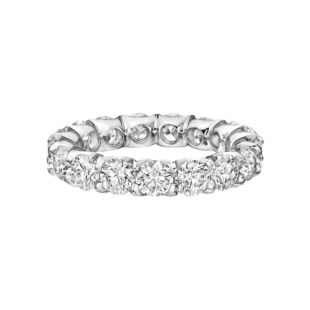 "Round Brilliant Diamond ""Capella"" Eternity Band (4.02ct tw)"