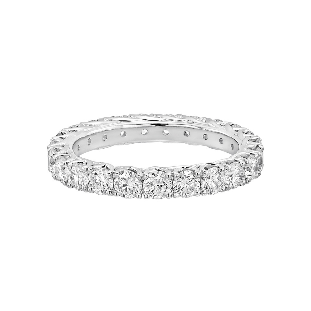 round eternity platinum bands prong cut brilliant band diamond u f carat product ring