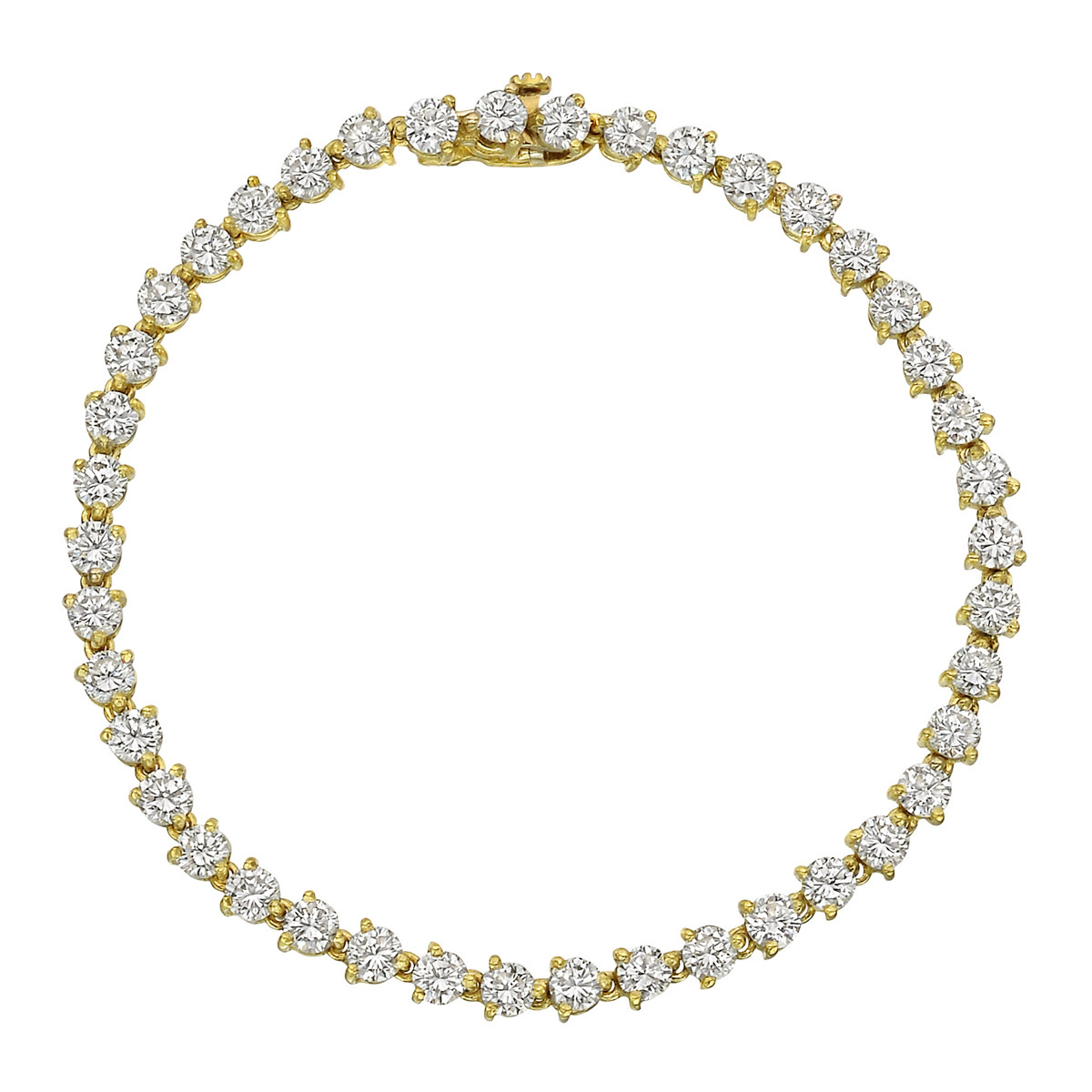 Round Brilliant-Cut Diamond Line Bracelet (~5.80 ct tw)