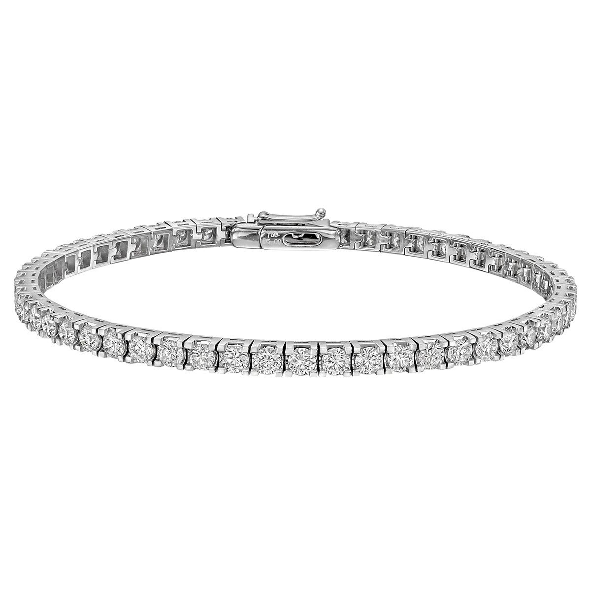 Round Brilliant Diamond Line Bracelet (~5 ct tw)
