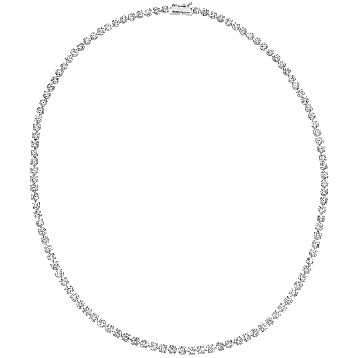 Round Brilliant Diamond Line Necklace (~15 ct tw)