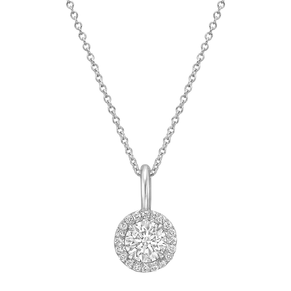 "0.78ct Round Brilliant Diamond ""Oriana"" Pendant"