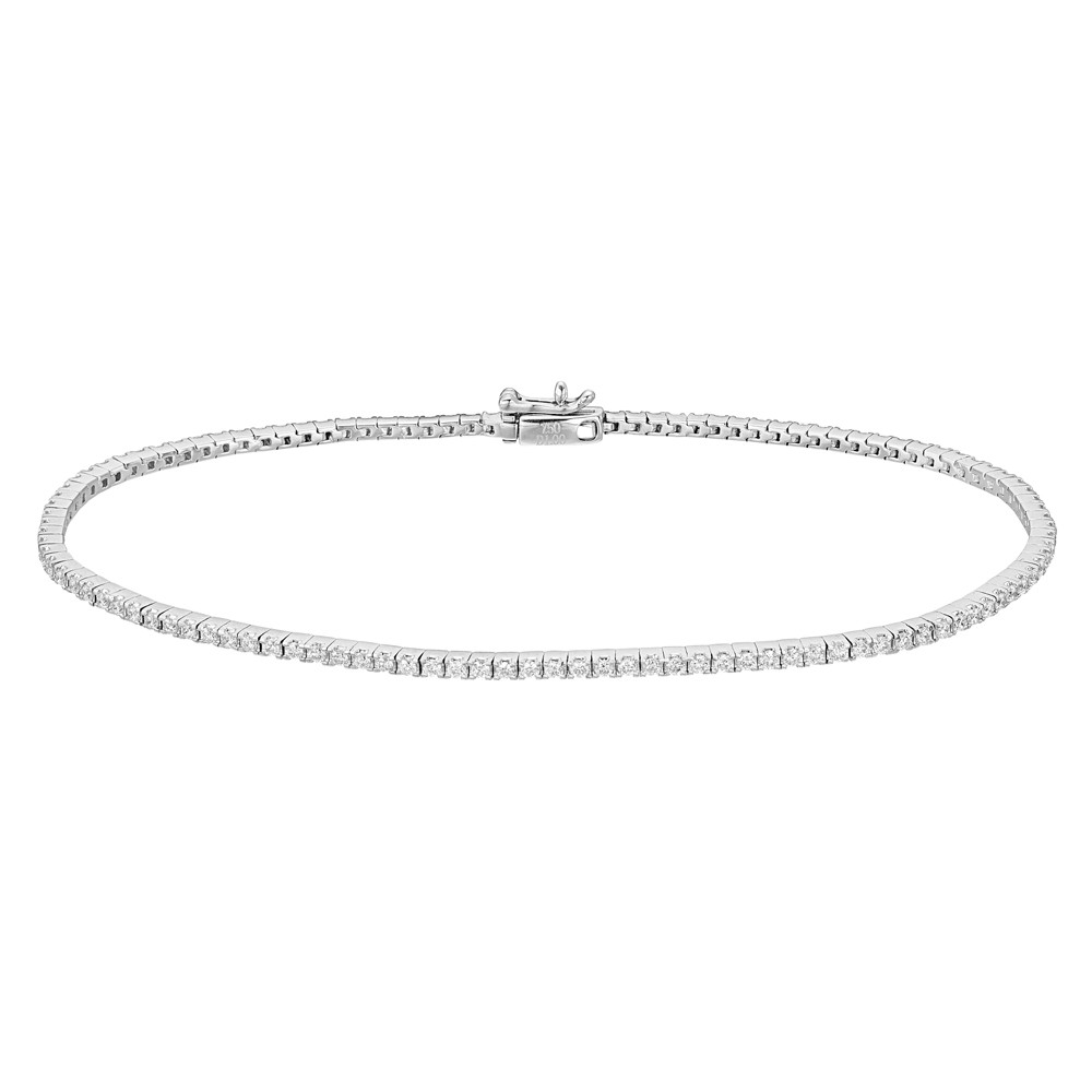 Round Brilliant Diamond Line Bracelet (~1 ct tw)