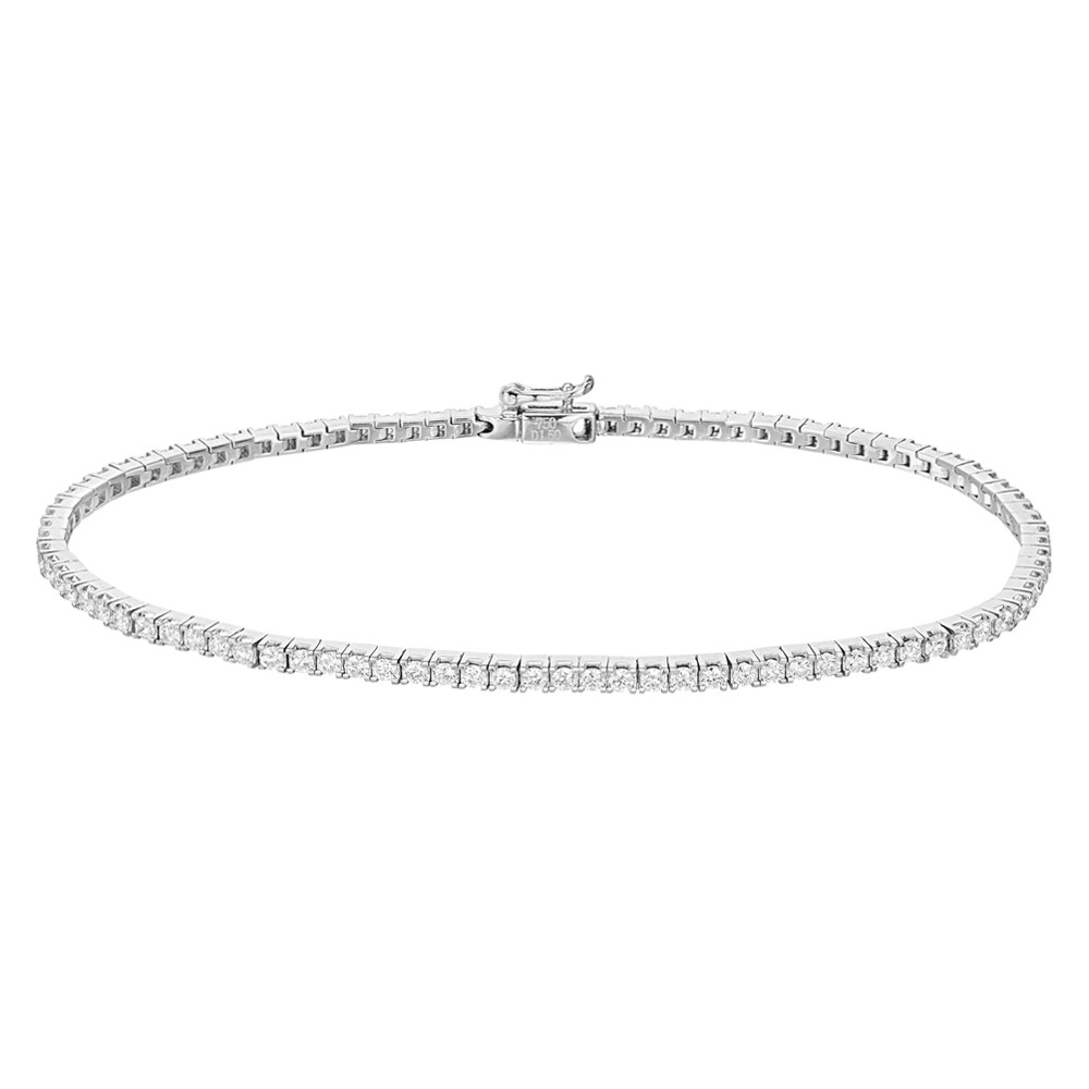 Round Brilliant Diamond Line Bracelet (~1.5 ct tw)