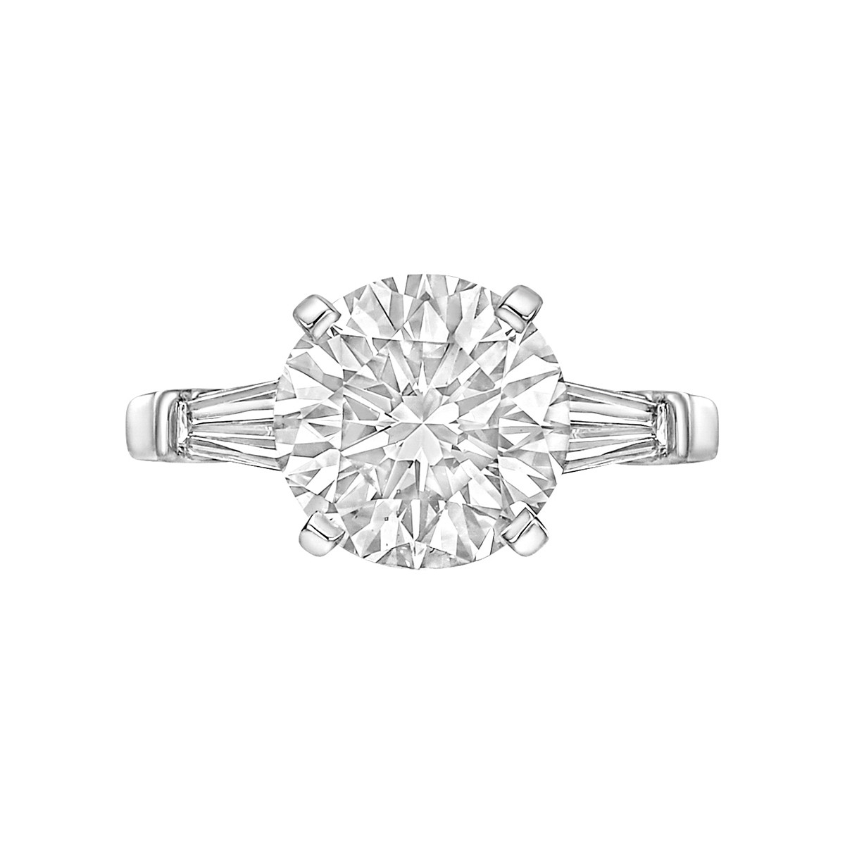 3.06ct Colorless Round Brilliant Diamond Ring