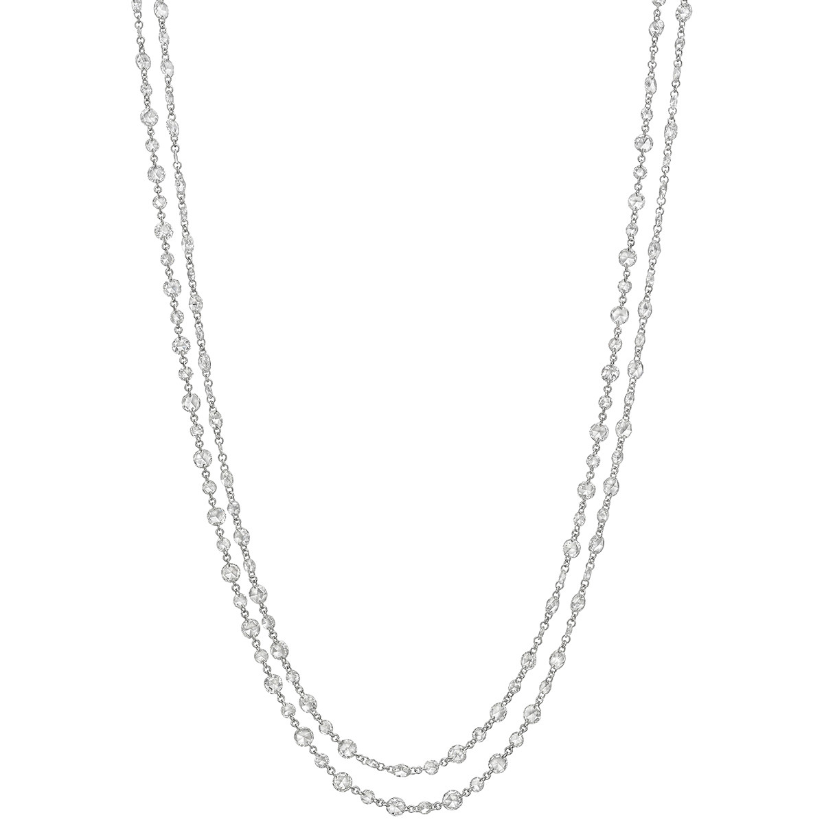Rose-Cut Diamond Chain Long Necklace (14.22 ct tw)