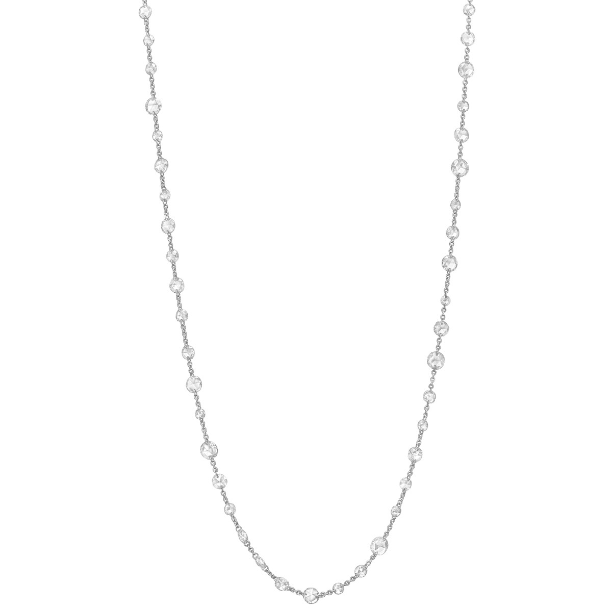 Rose-Cut Diamond Chain Long Necklace (11.12ct tw)