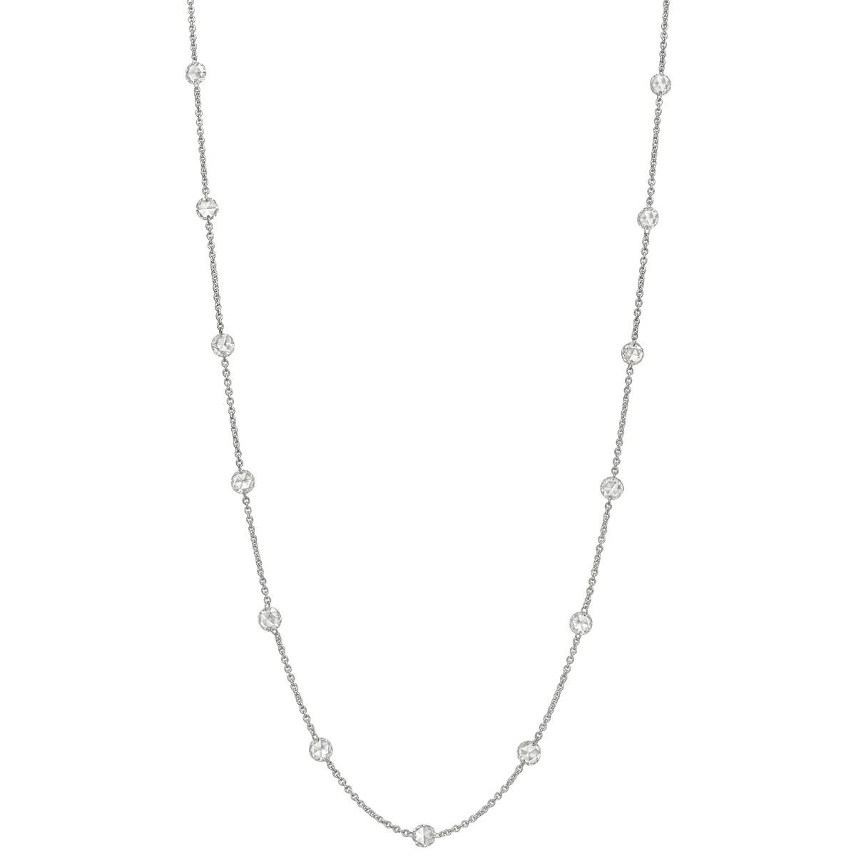 Rose-Cut Diamond Chain Necklace (2.20 ct tw)