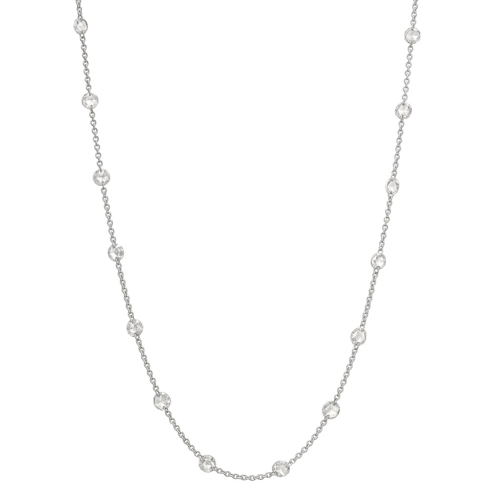 Rose-Cut Diamond Chain Necklace (3.41 ct tw)