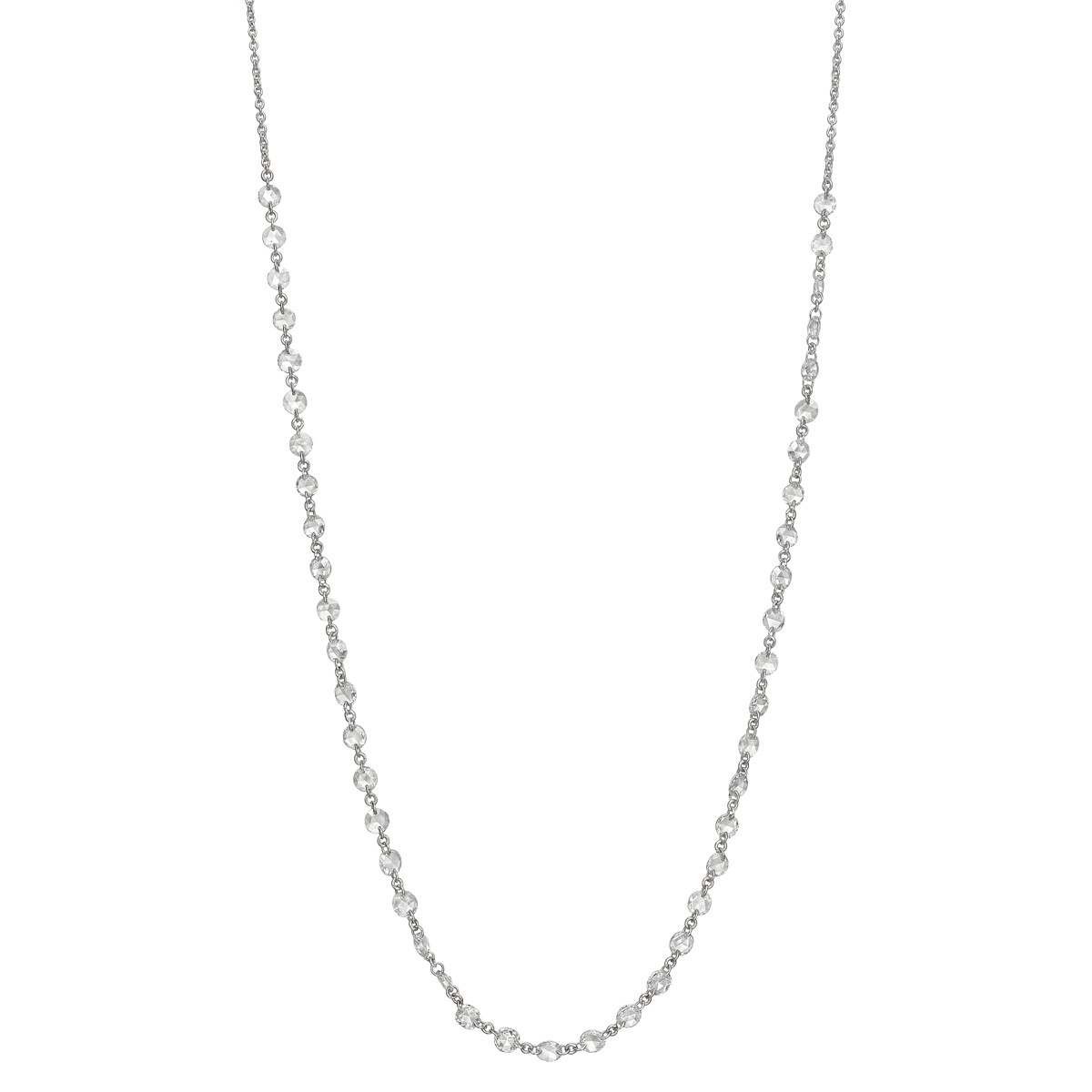 Rose-Cut Diamond Chain Necklace (2.52 ct tw)