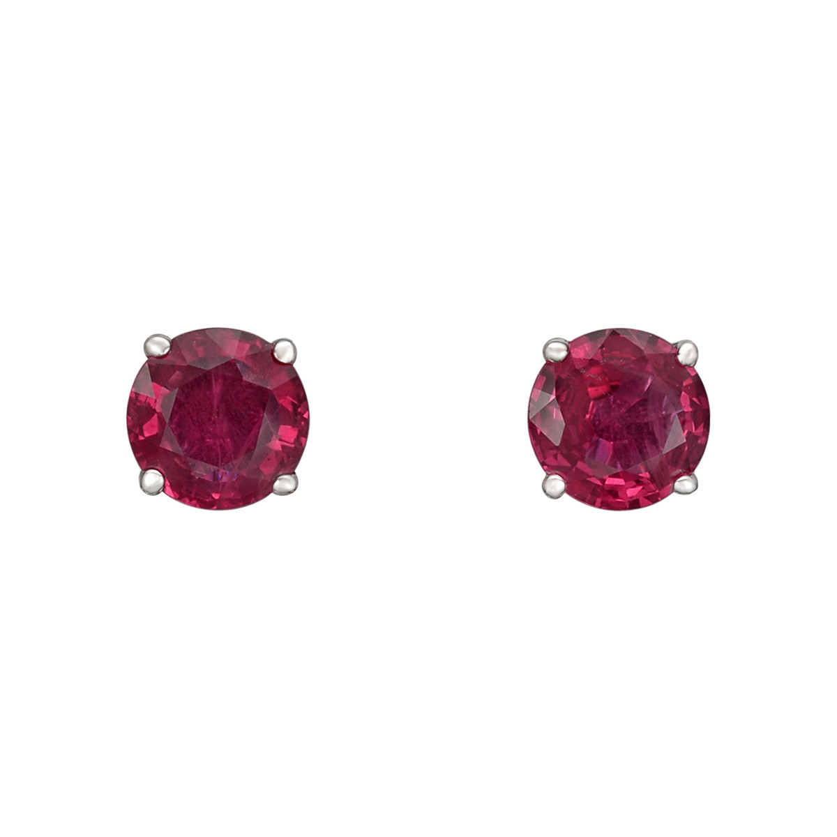 Round Ruby Stud Earrings (0.91 ct tw)