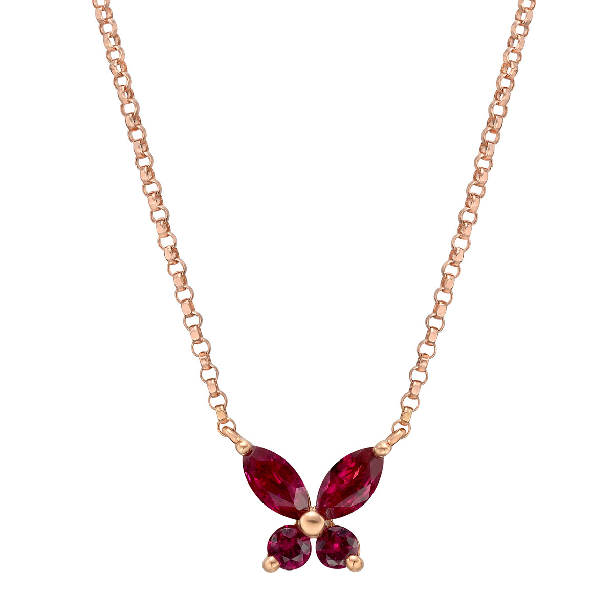 Small Ruby Butterfly Pendant