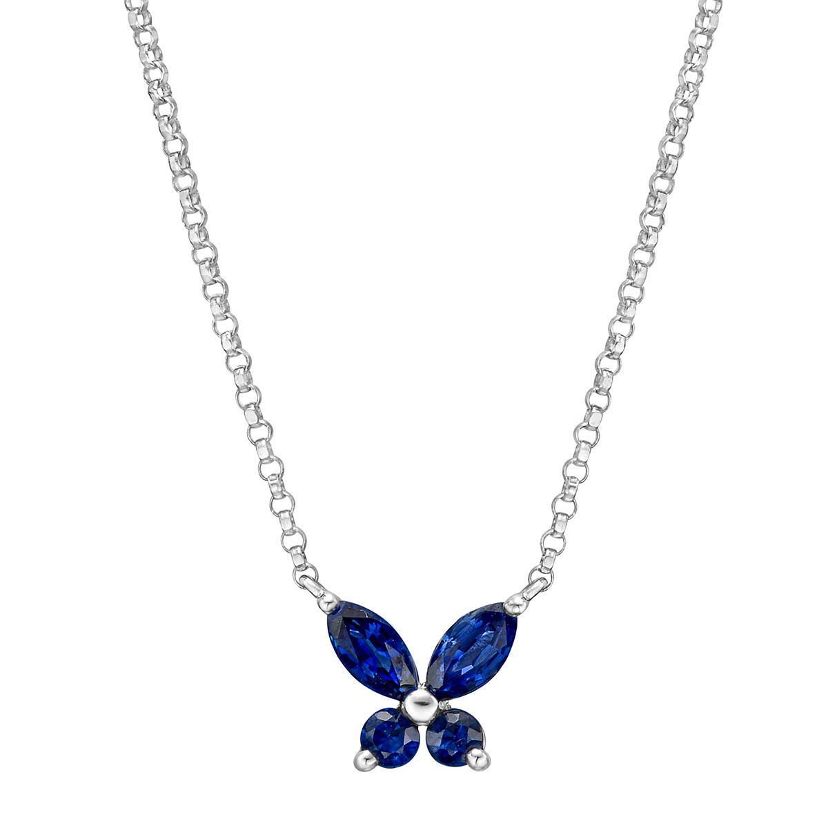 Small Sapphire Butterfly Pendant