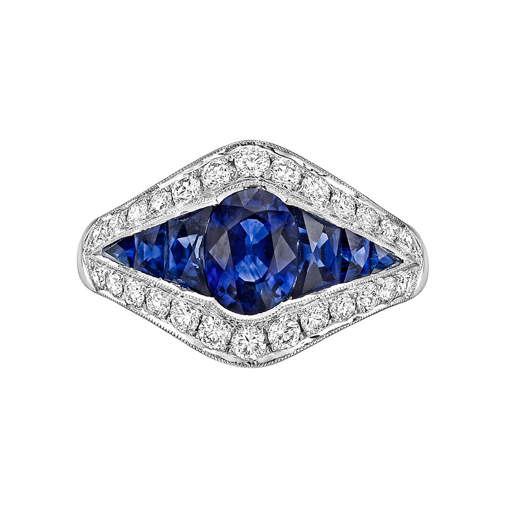 Sapphire & Diamond Dress Ring