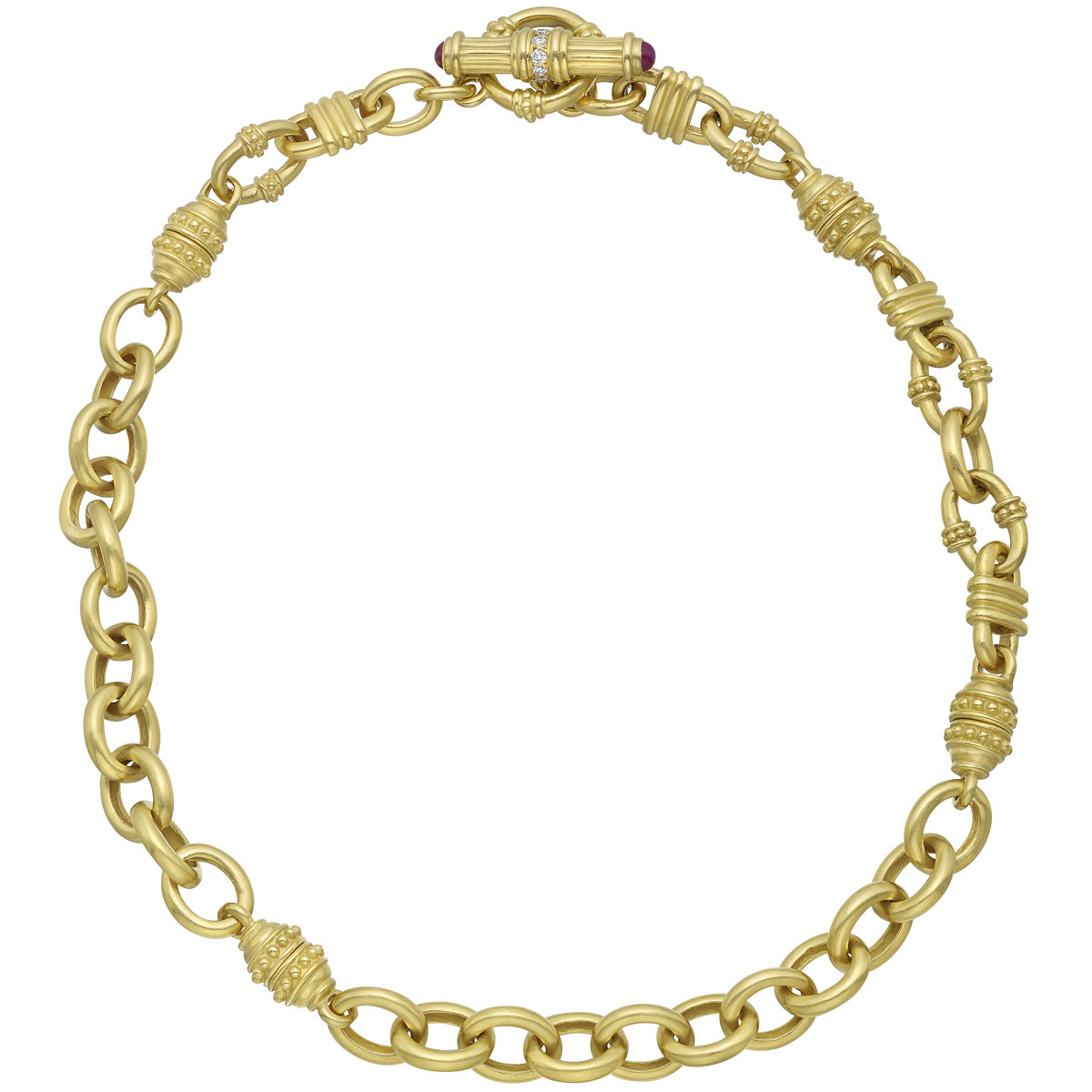 22k Yellow Gold Adjustable Link Necklace