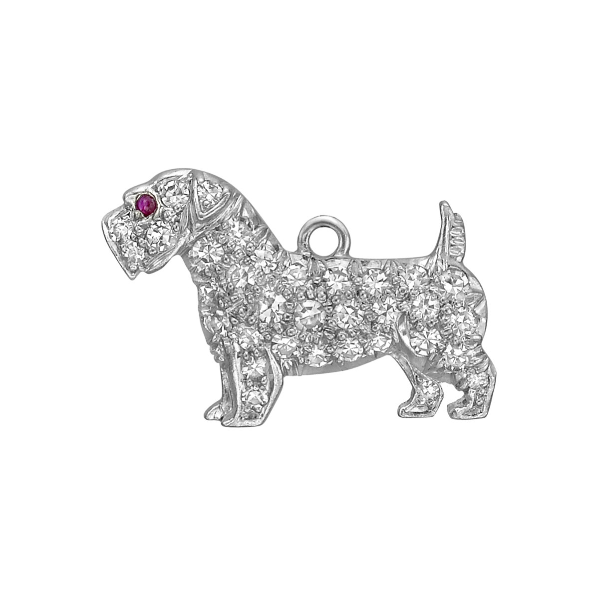 Platinum & Diamond Scottie Terrier Charm