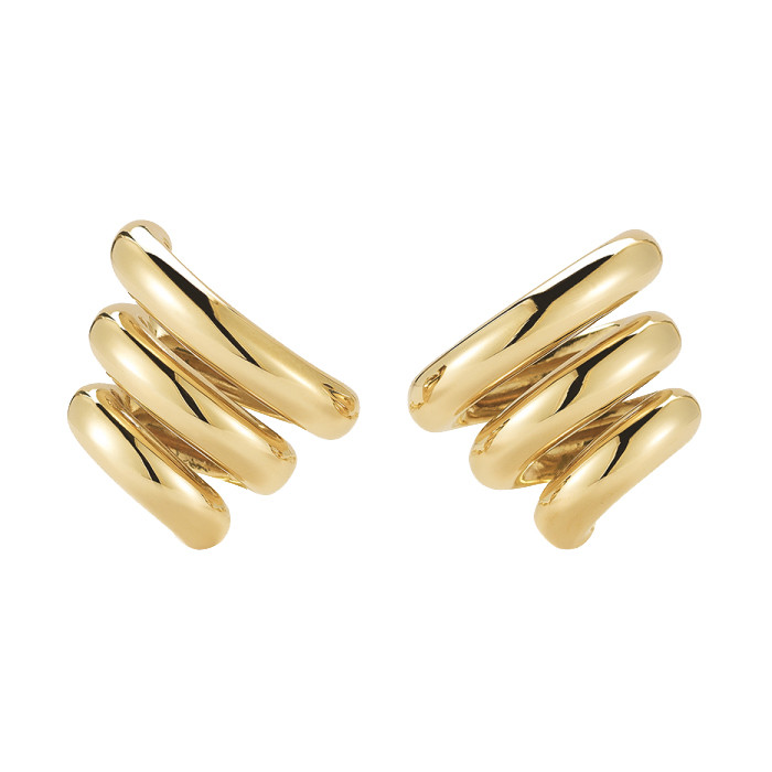 "18k Yellow Gold ""Mousetrap"" Earrings"
