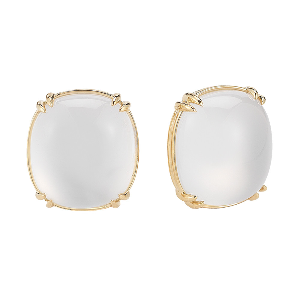 "18k Yellow Gold & White Quartz ""Capri"" Earrings"