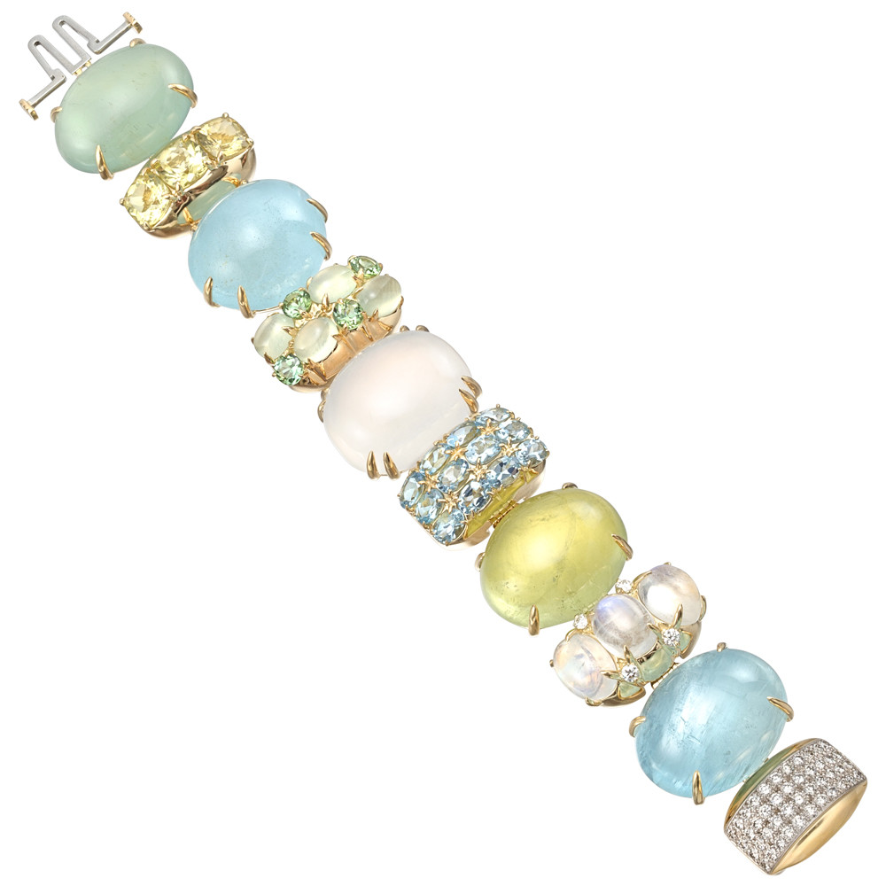 "Multicolored Gemstone ""Rio"" Bracelet"