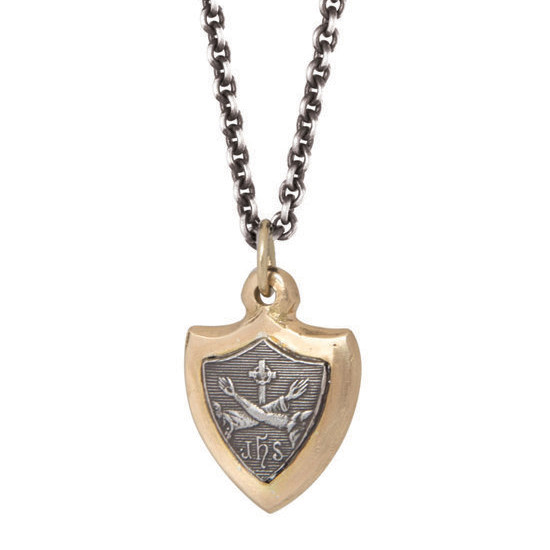 Silver & 14k Gold St. Francis Pendant